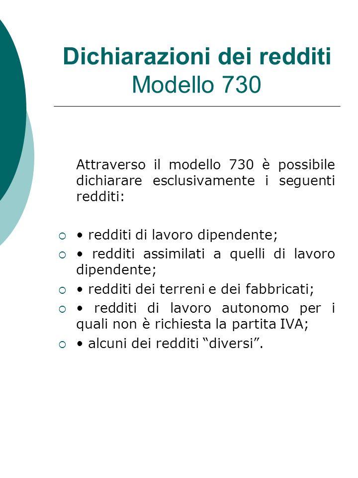 Dichiarazioni dei redditi Modello 730