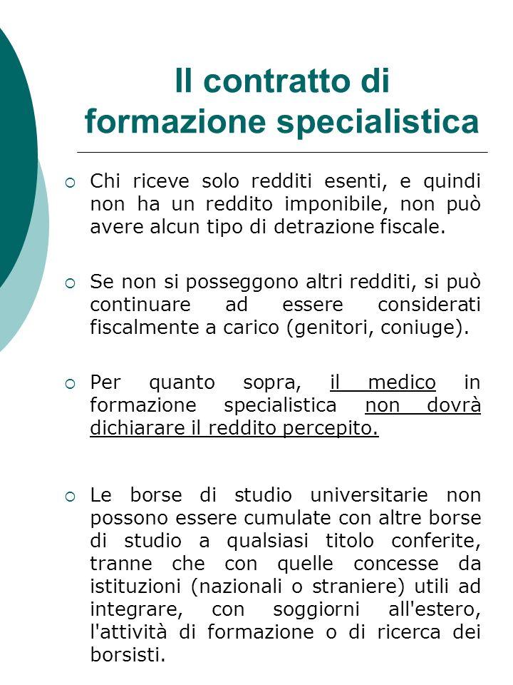 Il contratto di formazione specialistica