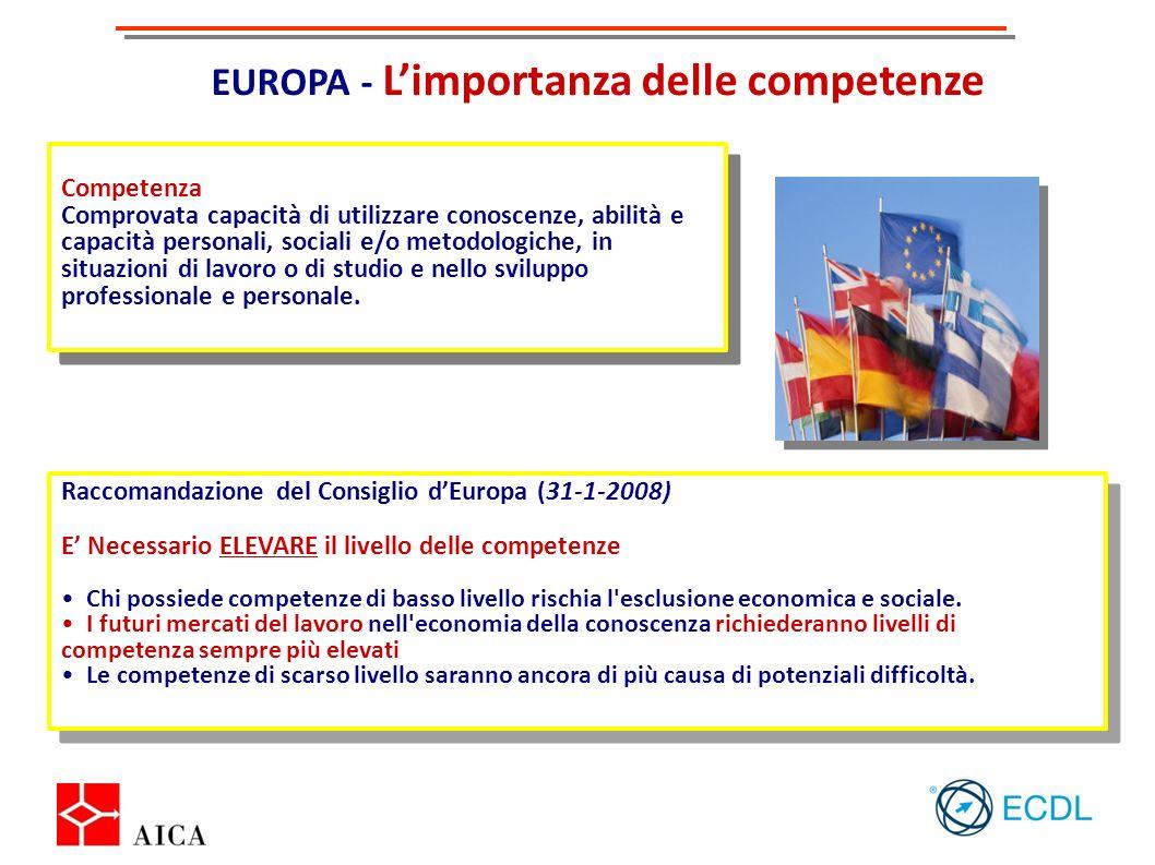 EUROPA - L'importanza delle competenze