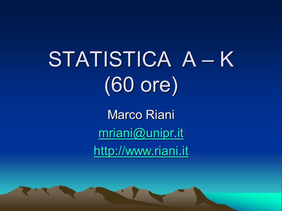 Marco Riani mriani@unipr.it http://www.riani.it