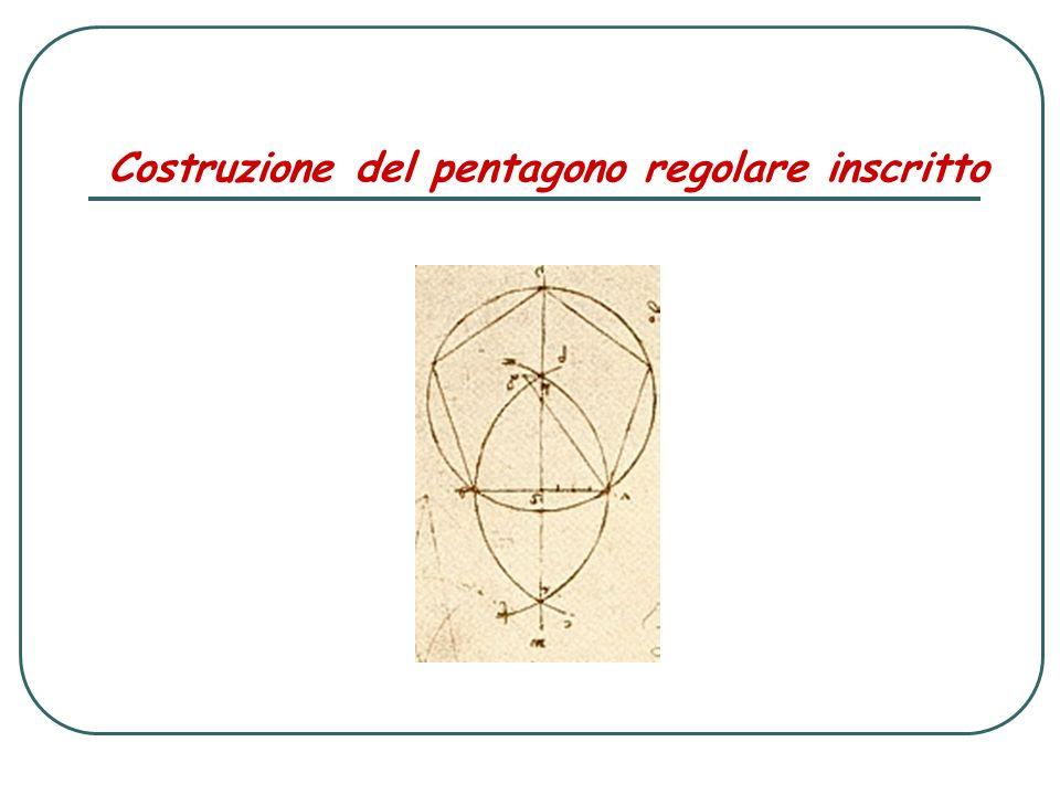 Costruzione del pentagono regolare inscritto