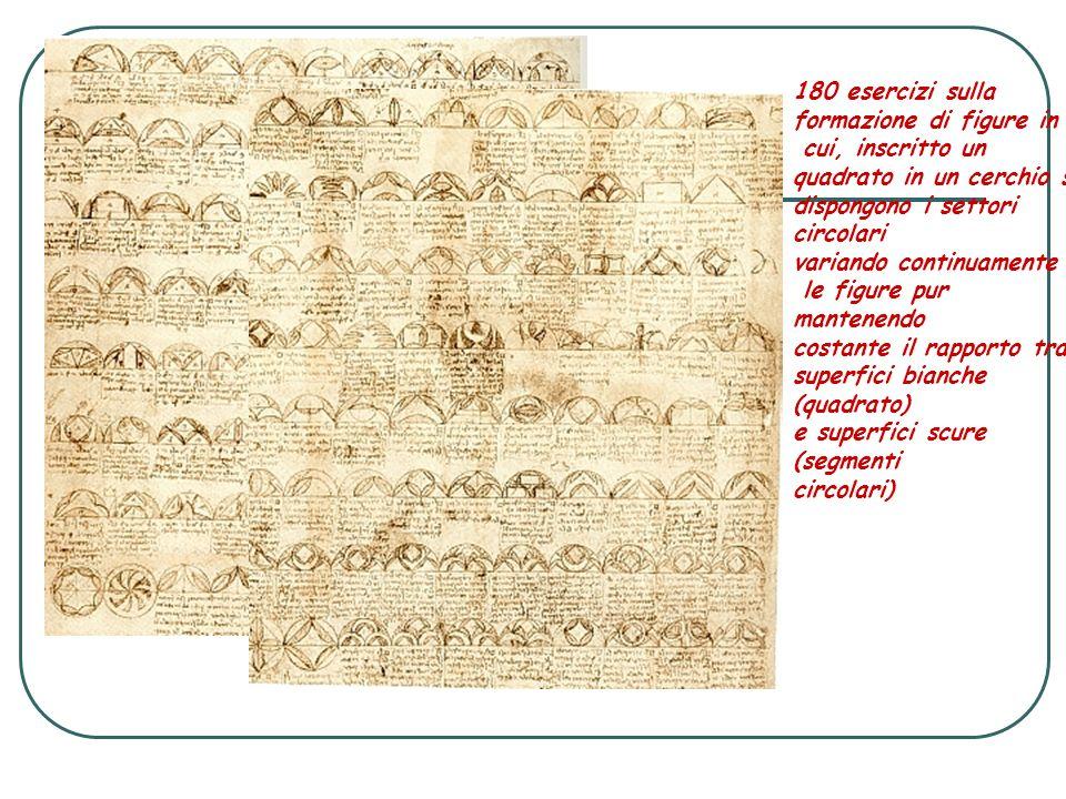 180 esercizi sulla formazione di figure in. cui, inscritto un quadrato in un cerchio si. dispongono i settori.