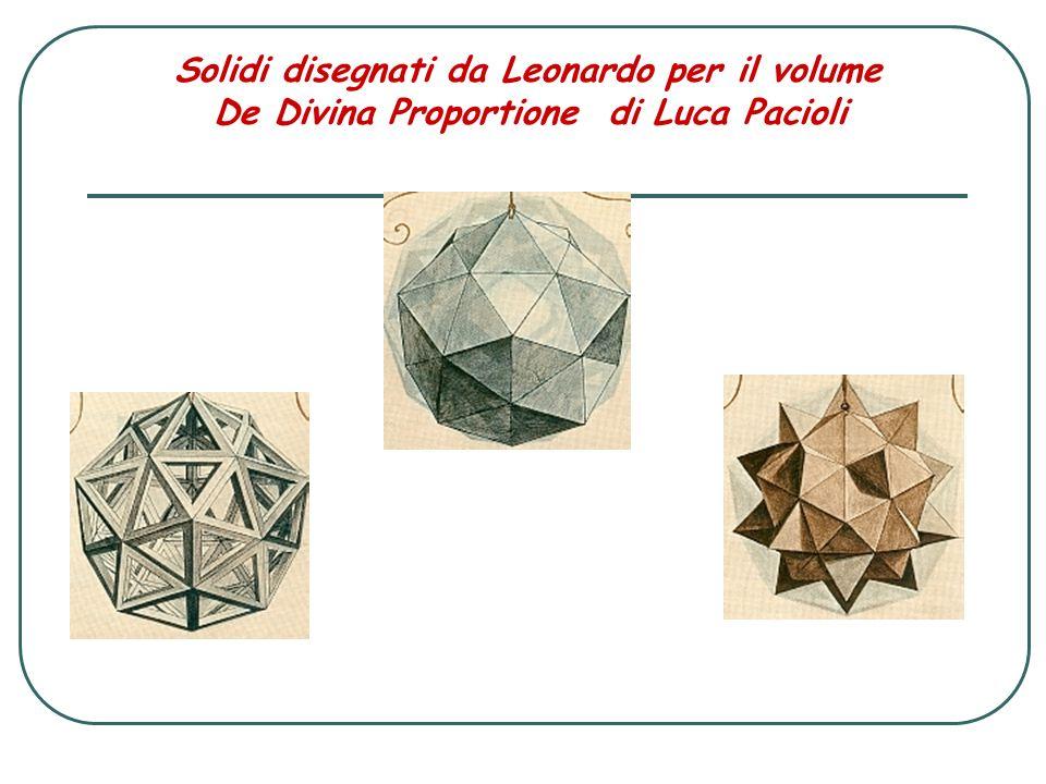 Solidi disegnati da Leonardo per il volume