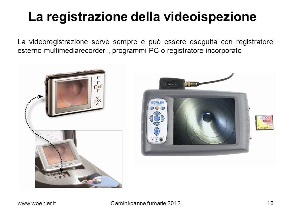 La registrazione della videoispezione