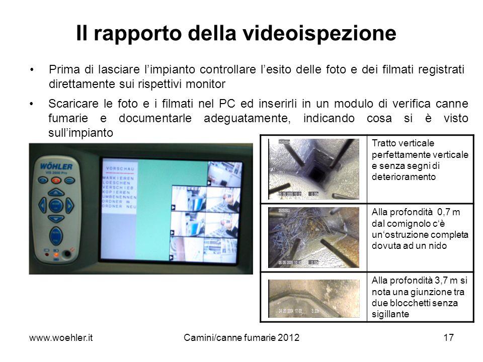Il rapporto della videoispezione