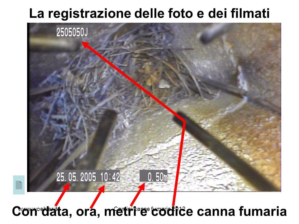 La registrazione delle foto e dei filmati