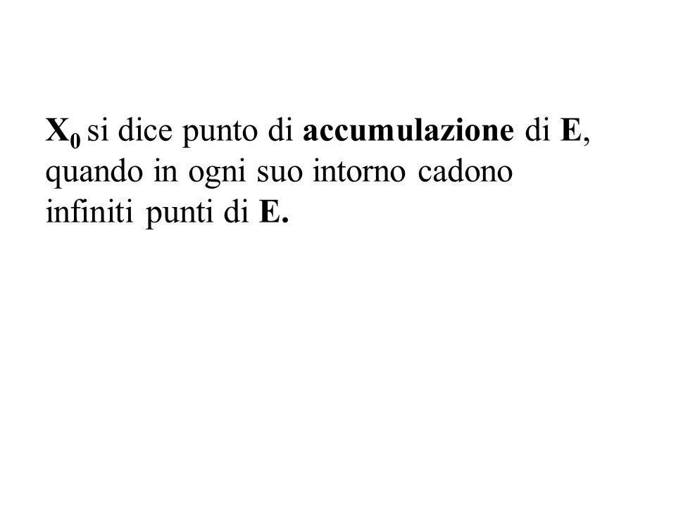 X0 si dice punto di accumulazione di E,