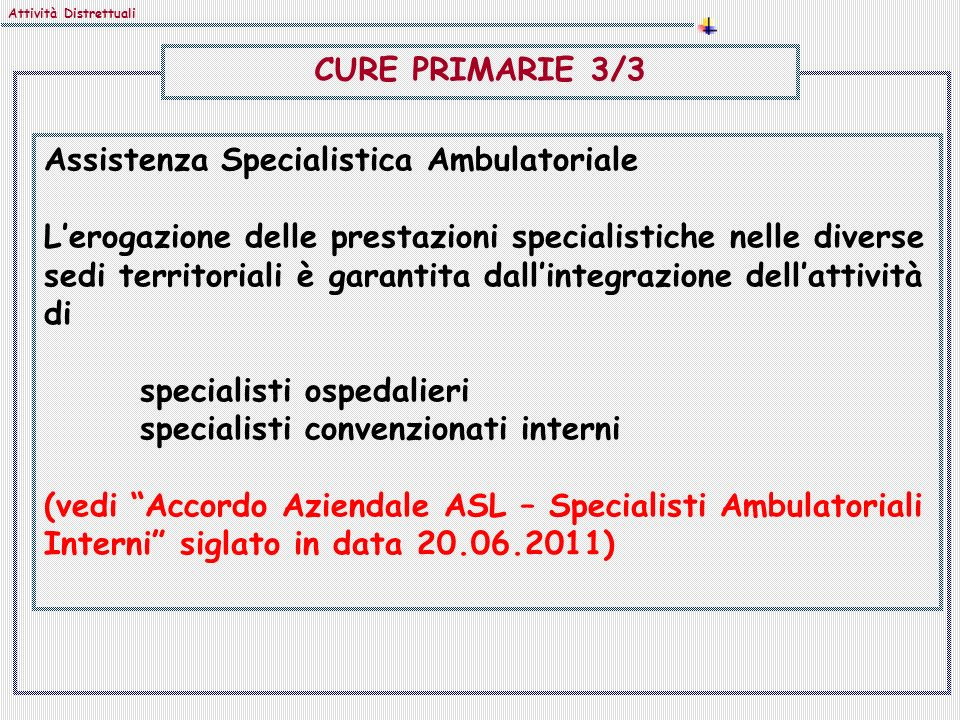 Assistenza Specialistica Ambulatoriale