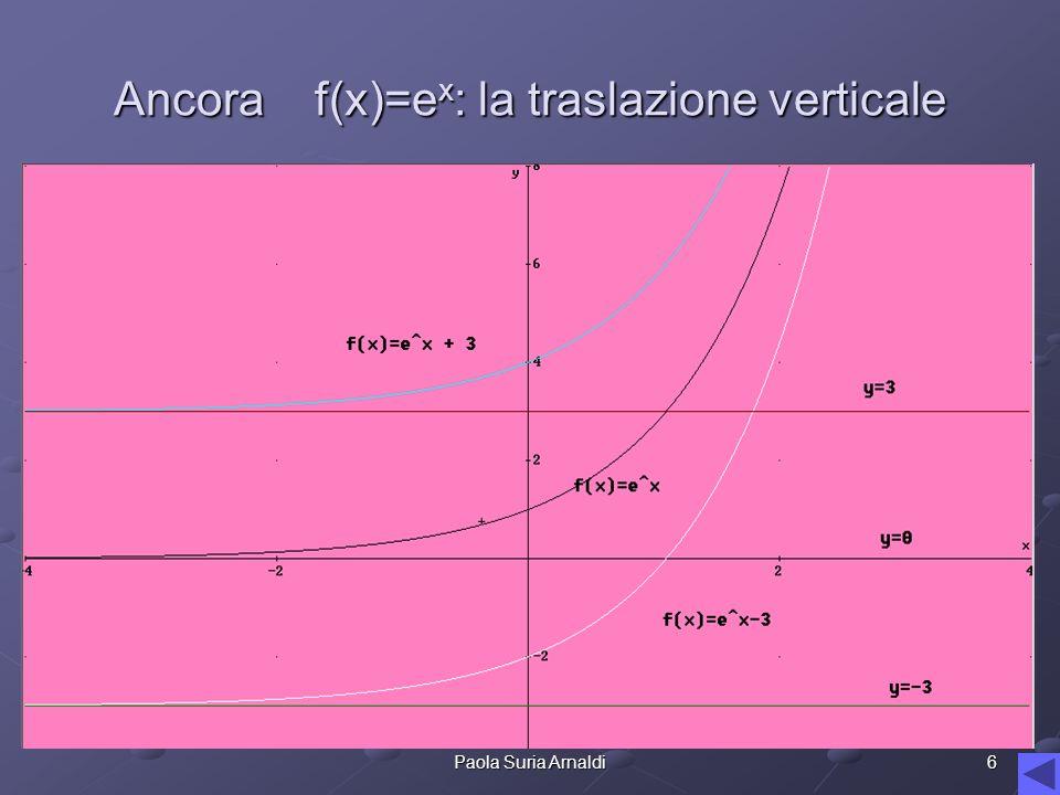 Ancora f(x)=ex: la traslazione verticale