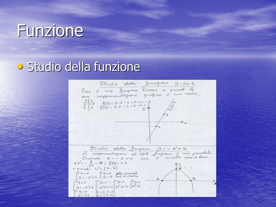 Funzione Studio della funzione