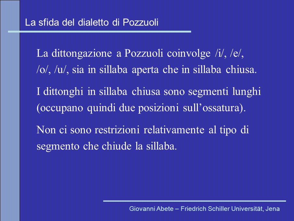 La dittongazione a Pozzuoli coinvolge /i/, /e/,