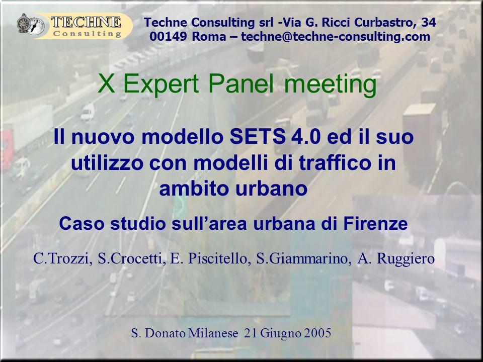 Caso studio sull'area urbana di Firenze