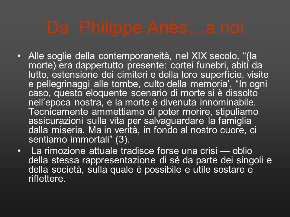 Da Philippe Ariès…a noi