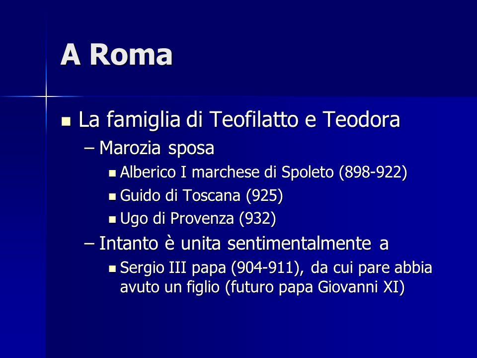 A Roma La famiglia di Teofilatto e Teodora Marozia sposa
