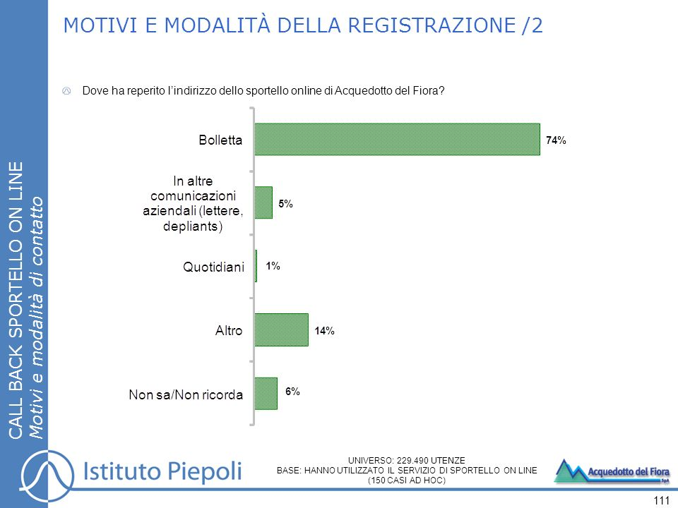 MOTIVI E MODALITÀ DELLA REGISTRAZIONE /2