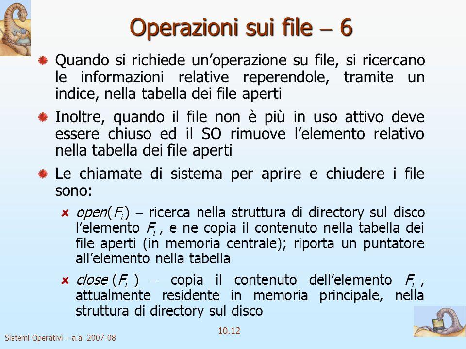 Operazioni sui file  6