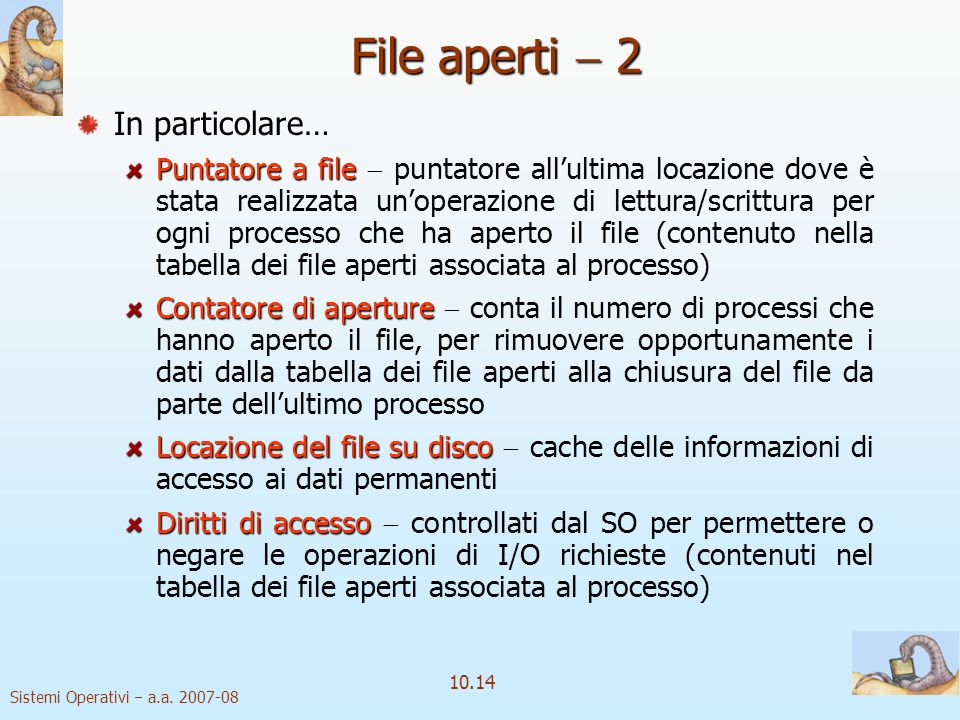 File aperti  2 In particolare…