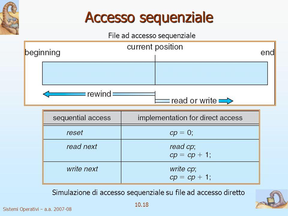 Accesso sequenziale File ad accesso sequenziale