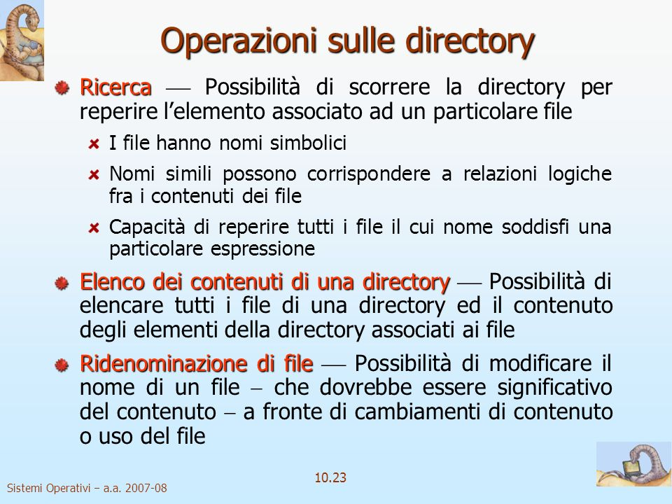 Operazioni sulle directory
