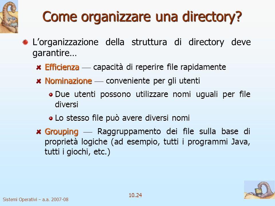 Come organizzare una directory