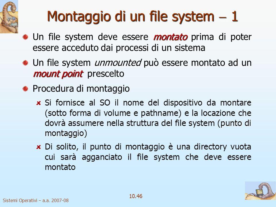Montaggio di un file system  1