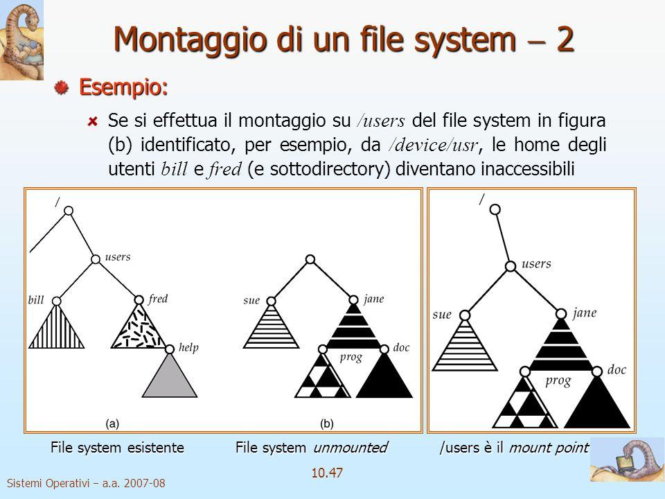 Montaggio di un file system  2