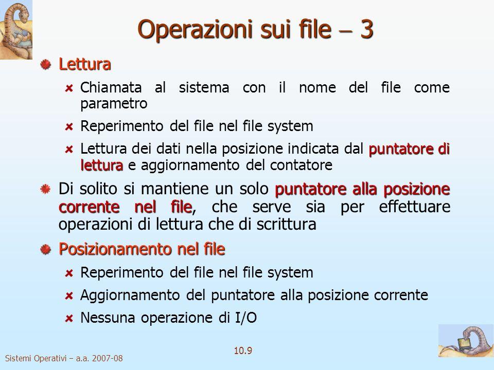 Operazioni sui file  3 Lettura