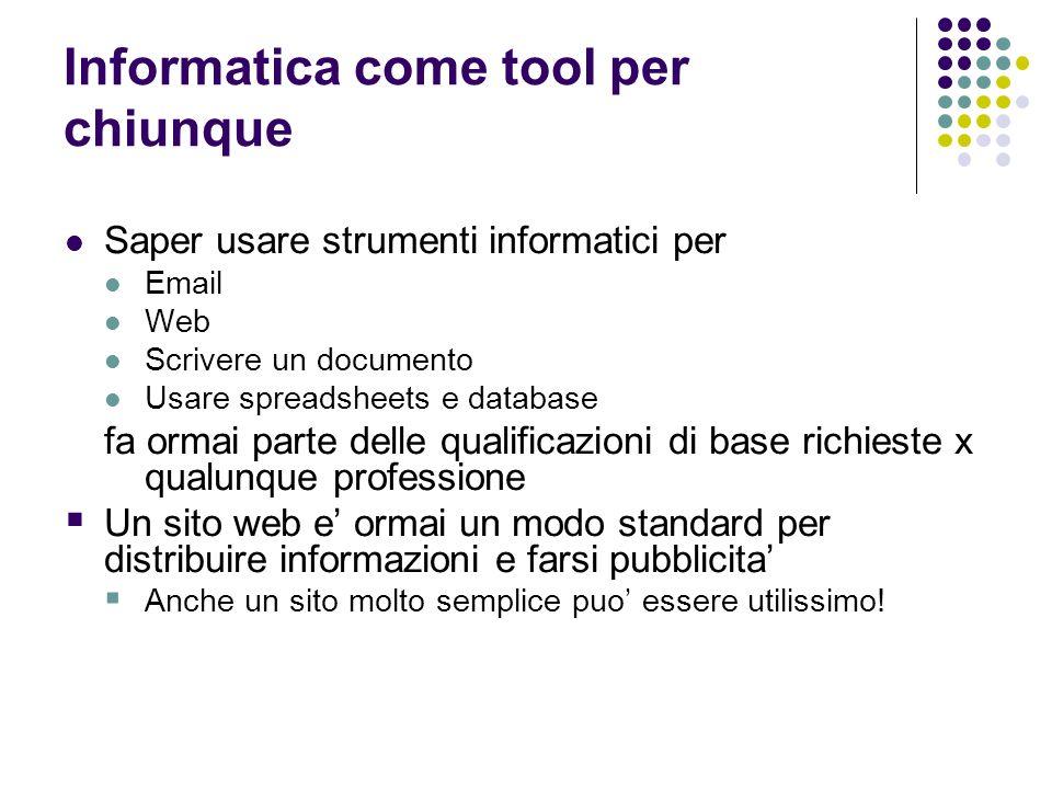 Informatica come tool per chiunque