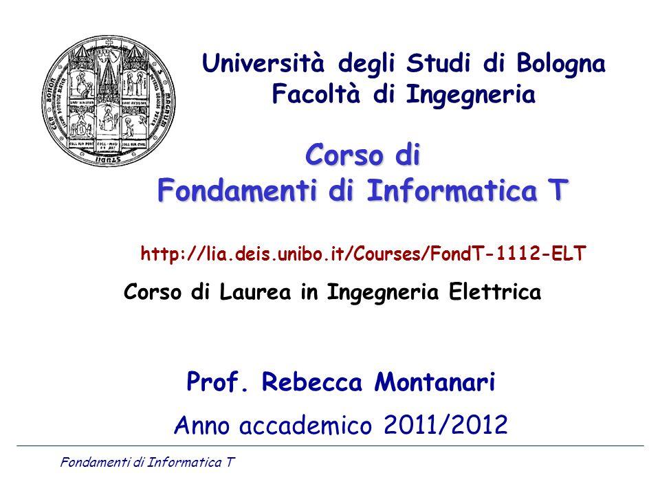 Prof. Rebecca Montanari Anno accademico 2011/2012