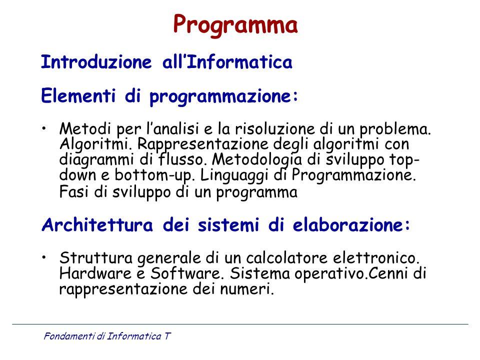 Fondamenti di Informatica T
