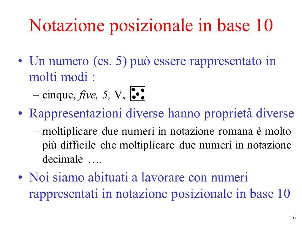 Notazione posizionale in base 10