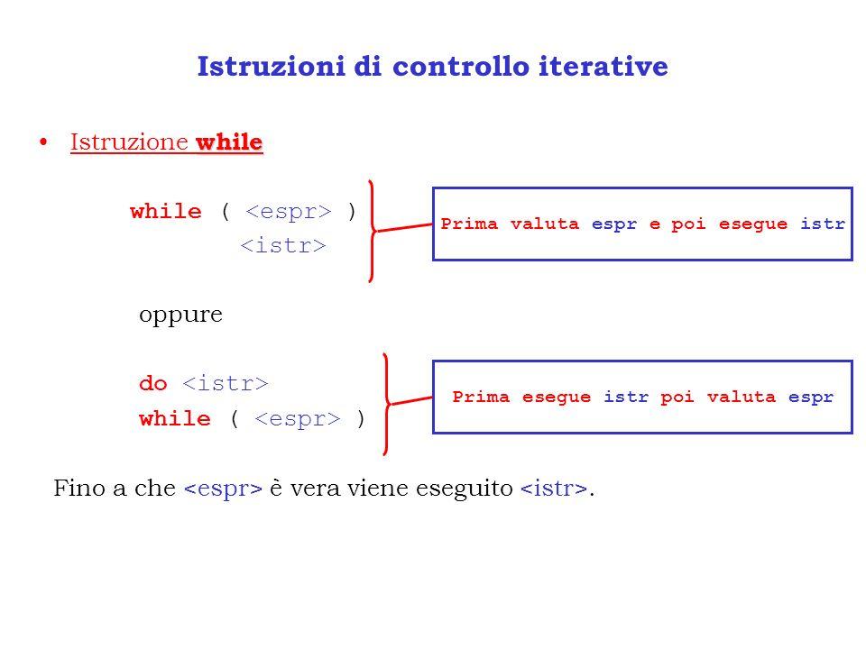 Istruzioni di controllo iterative