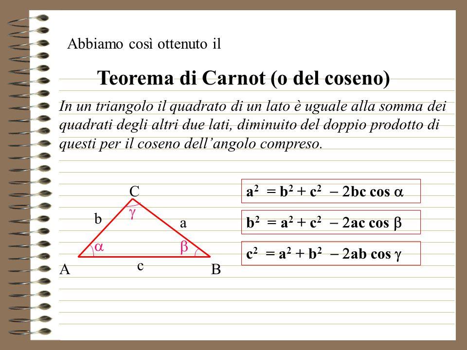 Teorema di Carnot (o del coseno)