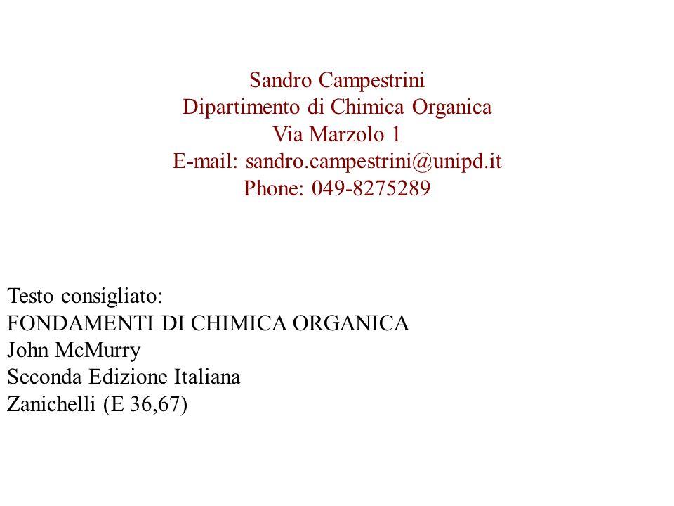 Dipartimento di Chimica Organica Via Marzolo 1