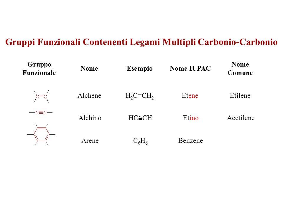 Gruppi Funzionali Contenenti Legami Multipli Carbonio-Carbonio