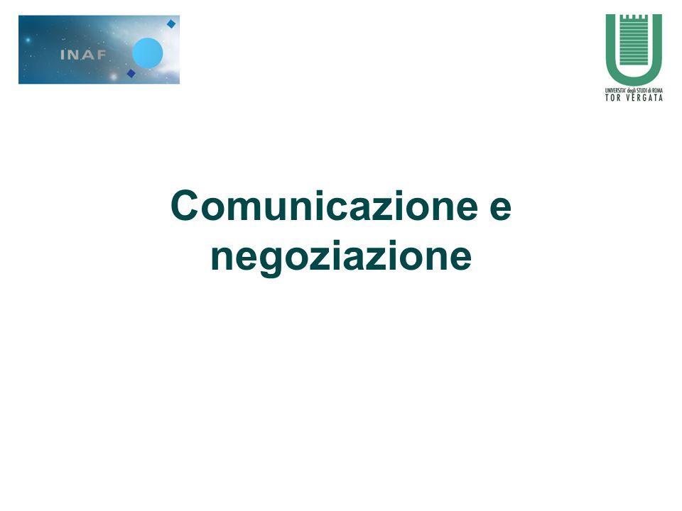 Comunicazione e negoziazione