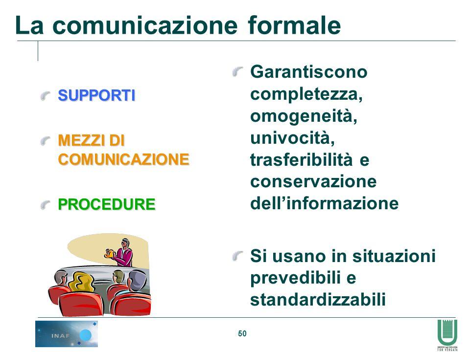 La comunicazione formale