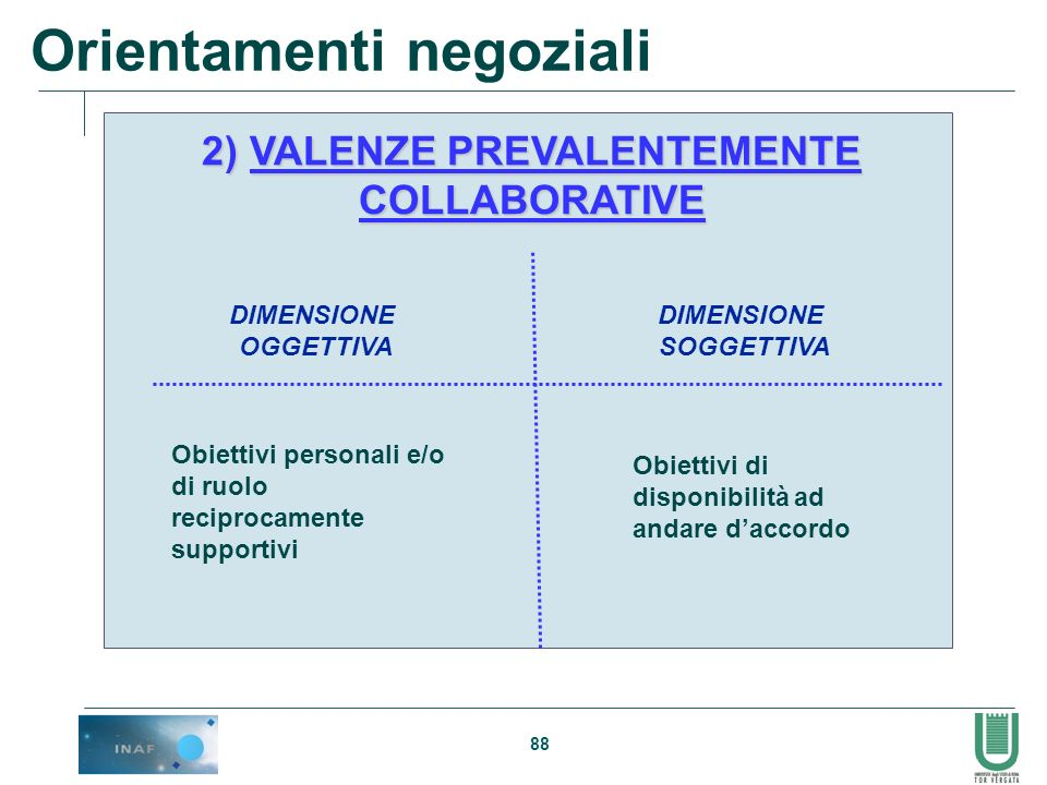 2) VALENZE PREVALENTEMENTE COLLABORATIVE