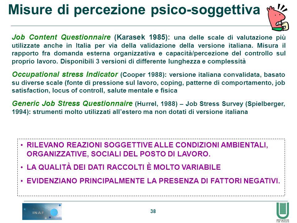 Misure di percezione psico-soggettiva