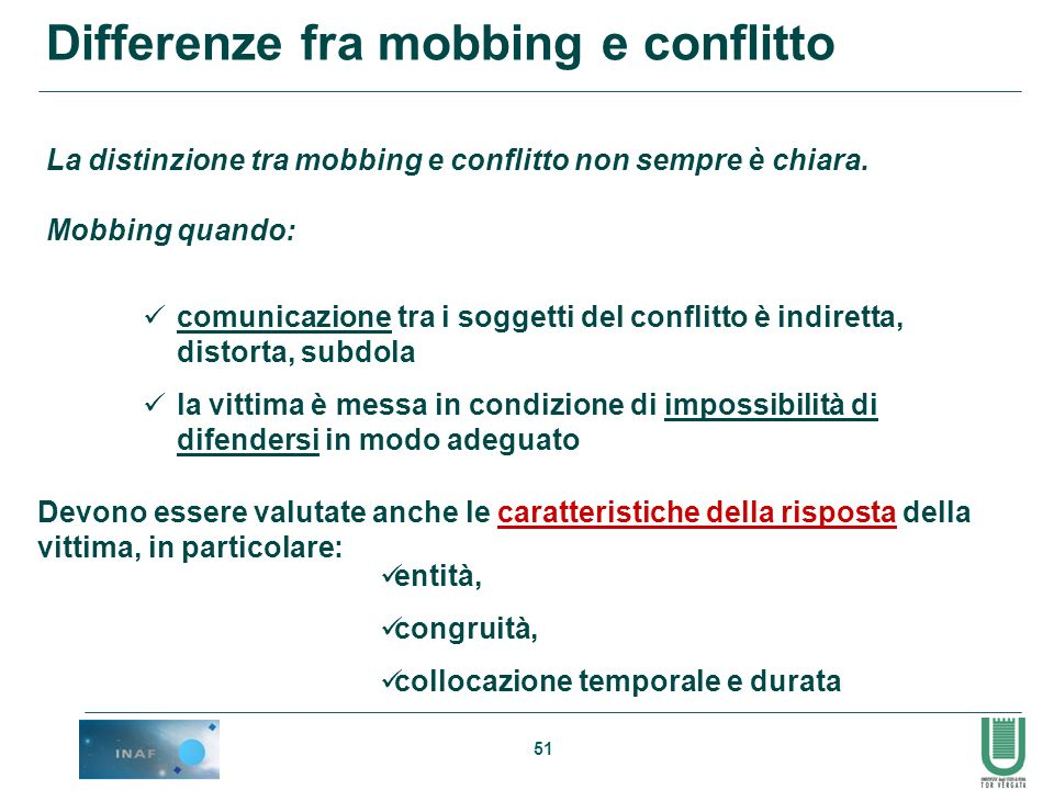 Differenze fra mobbing e conflitto