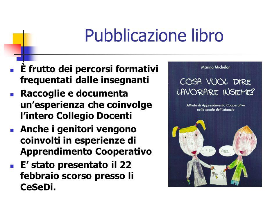 Pubblicazione libroÈ frutto dei percorsi formativi frequentati dalle insegnanti.