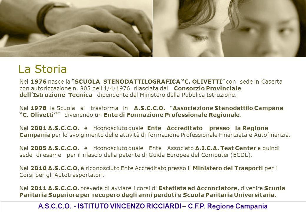 A.S.C.C.O. - ISTITUTO VINCENZO RICCIARDI – C.F.P. Regione Campania