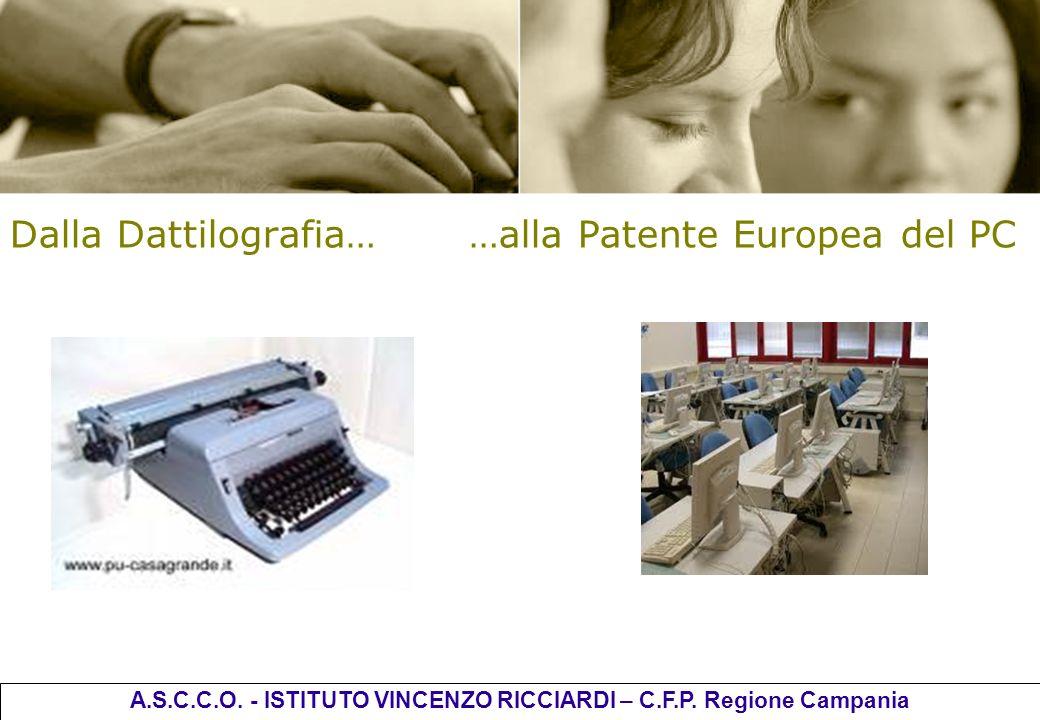 Dalla Dattilografia… …alla Patente Europea del PC