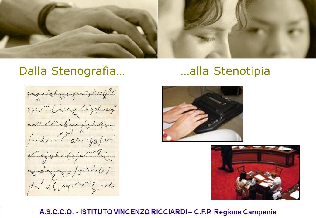 Dalla Stenografia… …alla Stenotipia