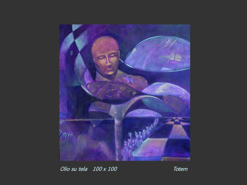 Olio su tela 100 x 100 Totem