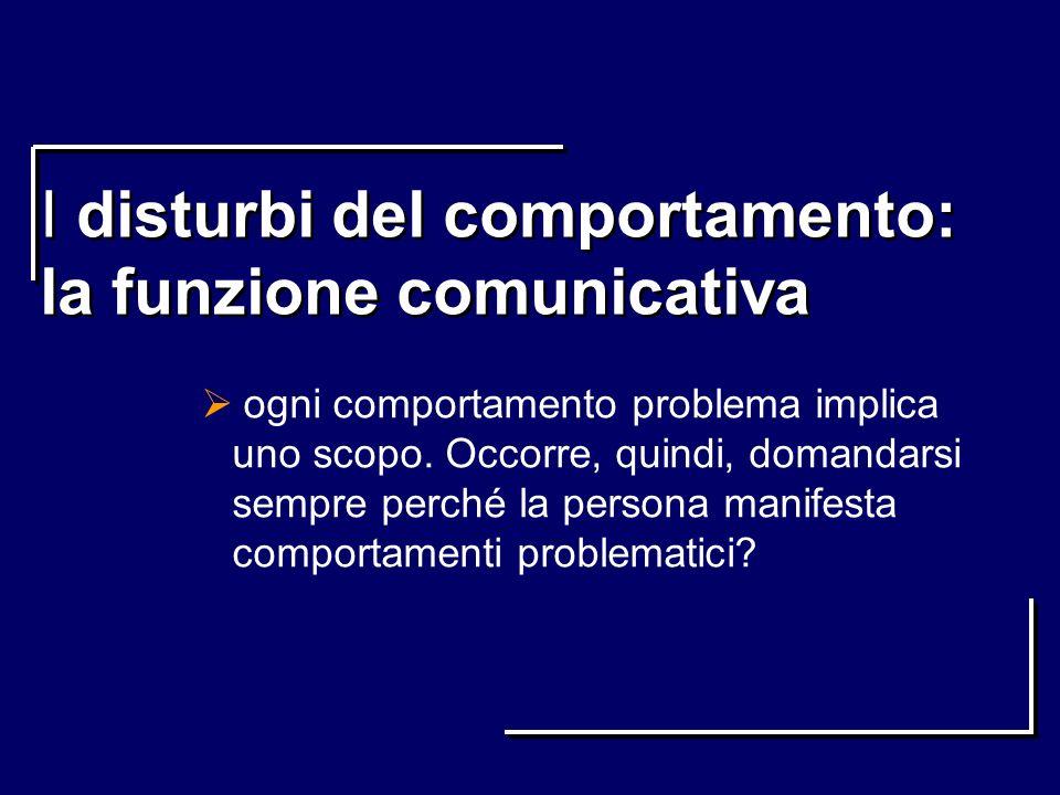 I disturbi del comportamento: la funzione comunicativa