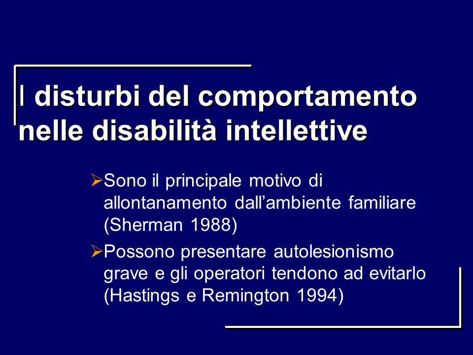 I disturbi del comportamento nelle disabilità intellettive