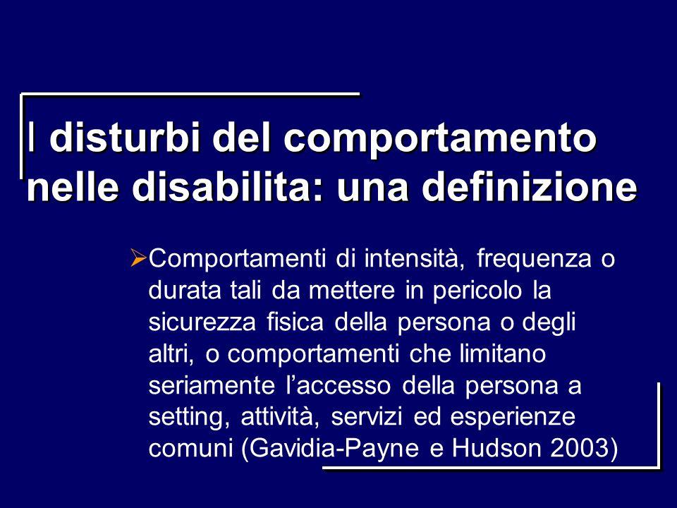 I disturbi del comportamento nelle disabilita: una definizione