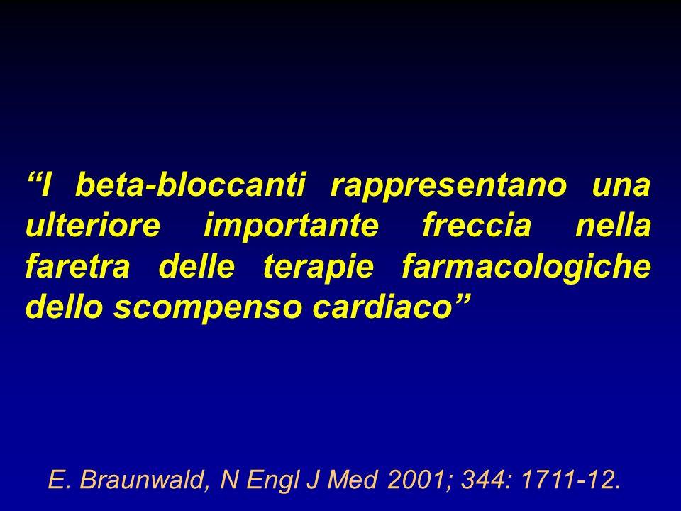 I beta-bloccanti rappresentano una ulteriore importante freccia nella faretra delle terapie farmacologiche dello scompenso cardiaco