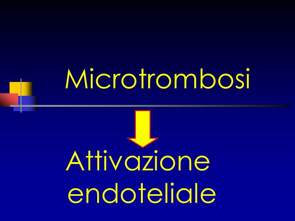 Microtrombosi Attivazione endoteliale